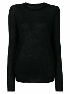 Joseph crew neck knitted jumper - Black
