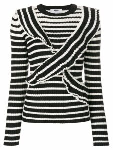 MSGM striped jumper - Black