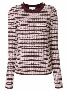 Carven striped crew neck jumper - Red