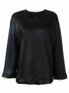 RtA crew neck distressed jumper - Black