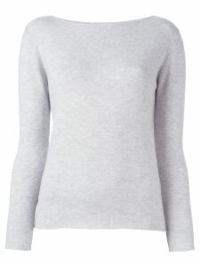 Fashion Clinic Timeless boat neck jumper - Grey