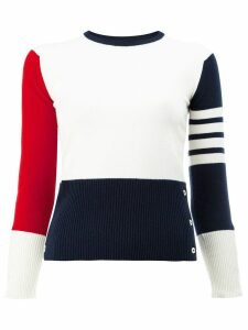 Thom Browne Contrast stripe pullover - 960 RWBWHT