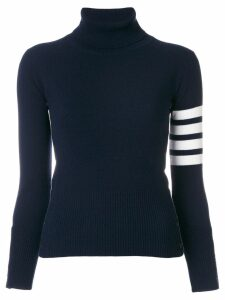 Thom Browne striped turtleneck sweater - Blue