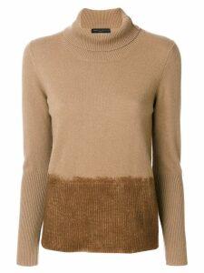 Fabiana Filippi turtleneck sweater - Brown