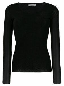 D.Exterior round neck jumper - Black