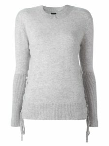 RtA fine knit lace-up jumper - Grey