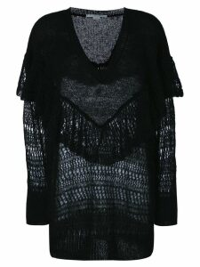 Stella McCartney ruffle neck sweater - Black