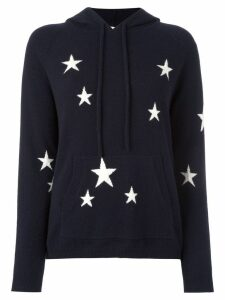 Chinti & Parker cashmere star intarsia hooded sweater - Blue