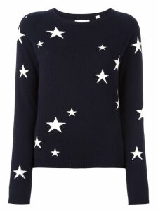 Chinti and Parker cashmere star intarsia sweater - Blue