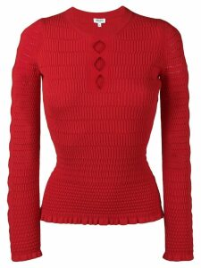 Kenzo cut-out fitted jumper - Red