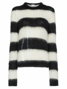 Saint Laurent striped mohair-blend sweater - Black