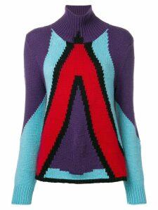 Bottega Veneta cashmere geometric panel jumper - Multicolour