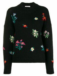 Philosophy Di Lorenzo Serafini floral intarsia sweater - Black