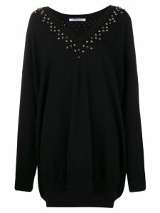 Givenchy embellished long-sleeve sweater - Black