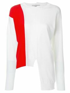 Stella McCartney asymmetric knit jumper - White