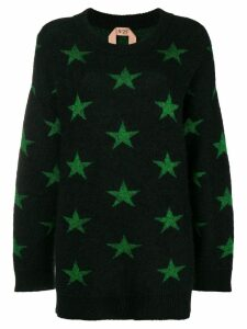 Nº21 star intarsia mohair-blend sweater - Black