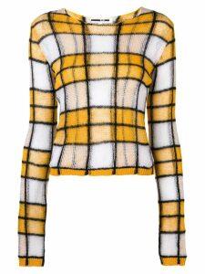 McQ Alexander McQueen checked knit jumper - Yellow