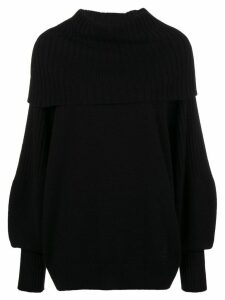 Givenchy foldover rib knit sweater - Black