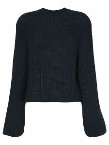 Rosetta Getty cropped back pullover - Blue