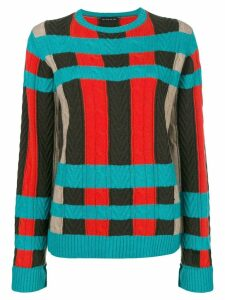 Etro large check jumper - Blue