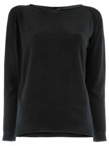 Avant Toi slash neck sweater - Black