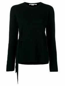 Stella McCartney ribbed round neck jumper - Black
