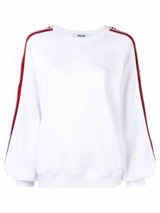 MSGM logo stripe detail jumper - White