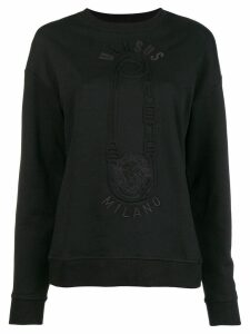 Versus pin printed sweatshirt - Black