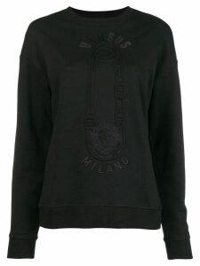 Versus pin printed sweatshirt - Black
