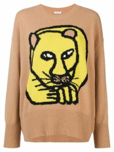 P.A.R.O.S.H. animal embroidered sweater - Brown