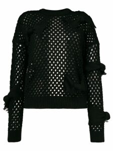 Red Valentino fishnet knit jumper - Black