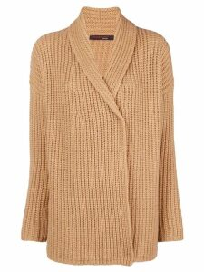 Incentive! Cashmere wrapped front cardigan - Brown