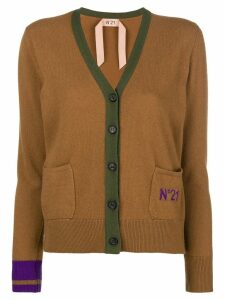 Nº21 V-neck button cardigan - Brown
