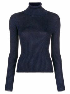 Marco De Vincenzo ribbed turtle neck sweater - Blue