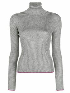 Marco De Vincenzo ribbed turtle neck sweater - Metallic