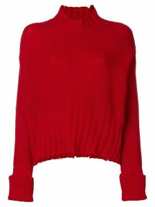 MSGM high neck knit sweater - Red