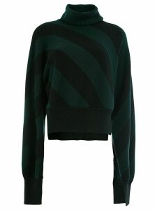 Monse striped turtle neck jumper - Green