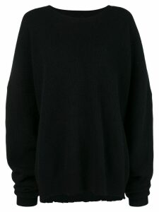 Unravel Project raw edge jumper - Black