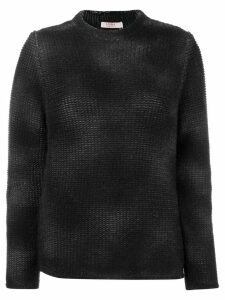 Liska cashmere sprayed effect sweater - Black