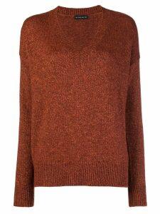 Etro lurex V-neck sweater - Yellow