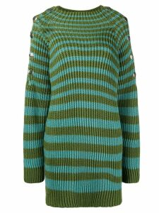 Alberta Ferretti ribbed striped jumper - Green