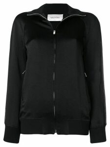 Valentino logo zip jumper - Black
