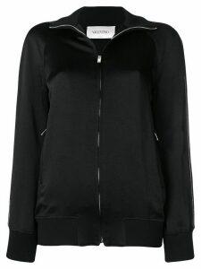Valentino logo zip jumper - Black