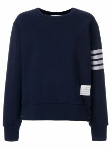 Thom Browne Double-faced Cashmere Crewneck Sweatshirt - Blue