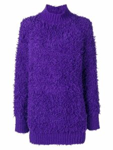 Marni textured oversized sweater - Purple