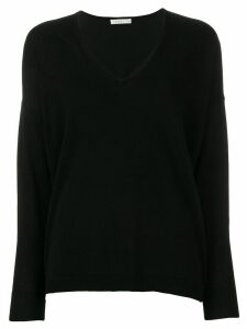 6397 lightweight V-neck jumper - Black