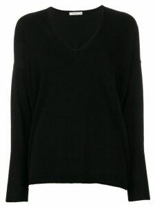 6397 lightweight V-neck jumper - Black