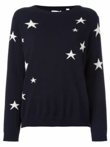 Chinti & Parker cashmere slouchy star intarsia sweater - Blue