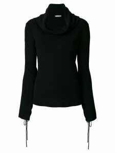 JW Anderson draped neck sweater - Black