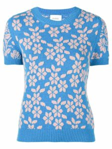 Barrie New Delft cashmere top - Blue
